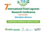ارائه یک عنوان مقاله توسط آقای دکتر عادل غدیری در هفتمین کنفرانس بین المللی پژوهش های حبوبات در کشور مغرب.